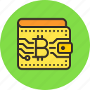 bitcoin, money, wallet icon