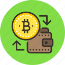 bitcoin, cashout, money icon