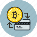 bitcoin, card, money icon