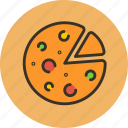 food, italian, kitchen, pizza icon