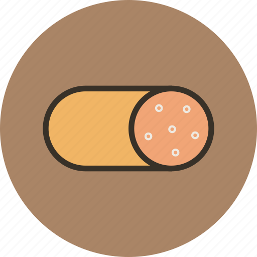 food, loaf, meat, sausage, smoked icon