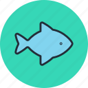 fish, food, kitchen, seafood icon