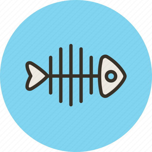 fish, fishbone, food, skeleton icon