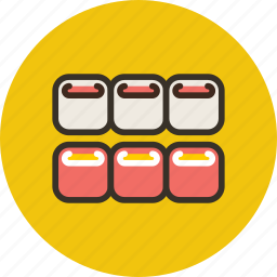 fish, food, japanese, rolls, seafood, sushi icon