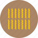 food, fusilli, macaroni, pasta, reginette icon