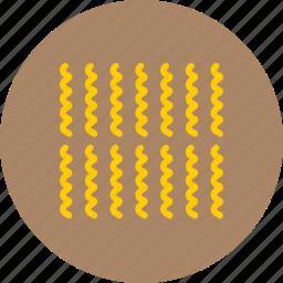 food, fusilli, macaroni, pasta, reginette icon