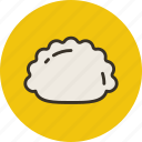 dumplings, food, hinkali, manti, meat, pelmeni icon