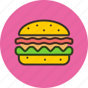 burger, fast, fastfood, food icon