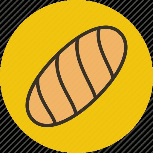 baking, bread, food, white icon