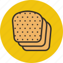 baking, bread, food, slices icon