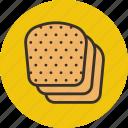 food, bread, baking, slices