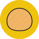 baking, bread, bun, food icon