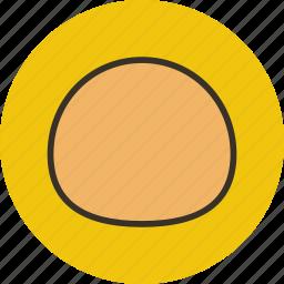 baking, bread, bun, food icon