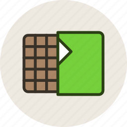 bar, candy, chocolate, food, sweet, wafer icon