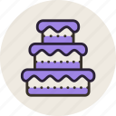 baking, cake, food, sweet, wedding icon