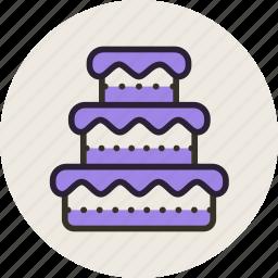 baking, cake, food, sweet, wedding icon
