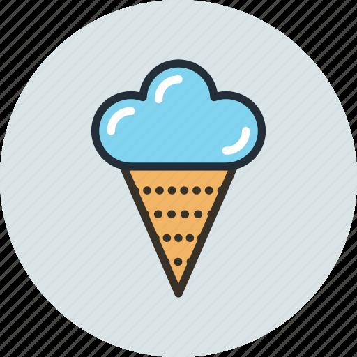 cone, cream, ice, icecream, italian, sweet, wafer icon
