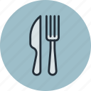 breakfast, cafe, dinner, food, fork, knife, lunch icon