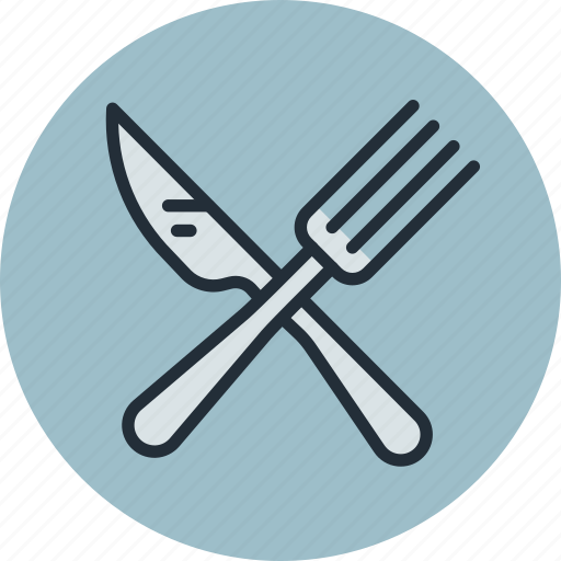 breakfast, dinner, food, fork, knife, lunch, restaurant icon
