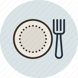 breakfast, dinner, dish, food, fork, lunch, plate icon