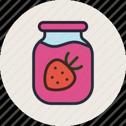 confiture, food, jam, kitchen, marmalade, strawbery, sweet icon