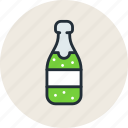 alcohol, bottle, champagne, drink, food, sparkling, wine icon