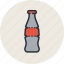 bottle, cola, drink, food, glass, soda, sparkling icon