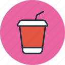 cocktail, cola, drink, glass, plastic, soda, takeaway icon