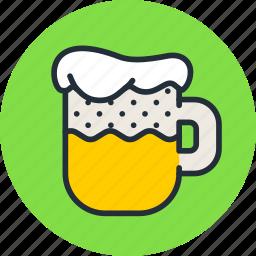 alcohol, beer, drink, foam, kvass, mug icon