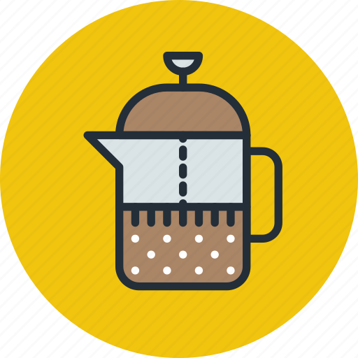 brewing, coffe, french, press, tea, teapot icon