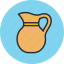 cream, drink, jug, krynka, milk, pitcher, sour icon
