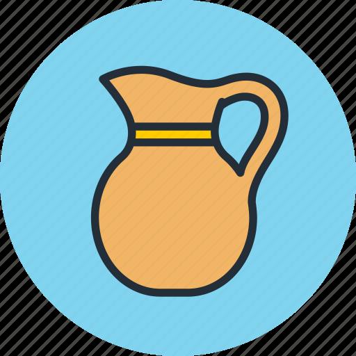 cream, drink, jug, krynka, milk, pitcher, sour icon