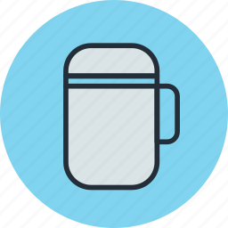 cold, drink, flask, hot, kitchen, soup, thermos icon