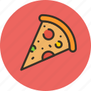 food, piece, pizza icon