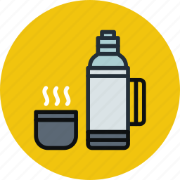 cup, drink, hot, thermos icon