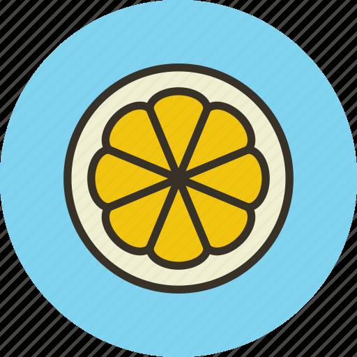 citrus, food, fruit, lemon, slice icon