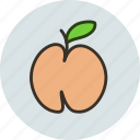 food, fruit, peach, sweet icon
