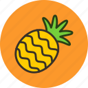 food, fruit, pineapple, sweet icon