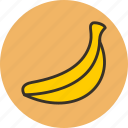 banan, banana, food, fruit, herb, plant icon