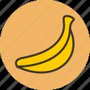 banan, banana, food, fruit, herb, plant icon