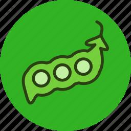 food, peas, pod, vegetable icon
