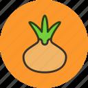 food, onion, vegetable, kitchen icon