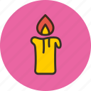 candle, fire, flame, light icon