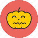funny, halloween, horror, pumpkin, scary icon