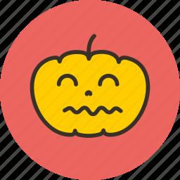 funny, halloween, horror, pumpkin, scary icon