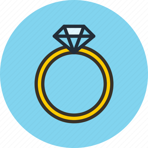 adamant, brilliant, diamond, jewelery, mineral, present, ring icon