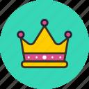 cesar, crown, gold, jewelery, king, tsar icon