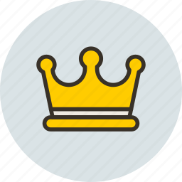 cesar, corona, crown, gold, jewelery, king, leader icon