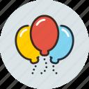 baloons, birthday, helios, holiday, celebration, congratulation, congratulations