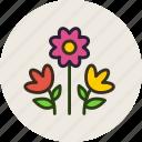 bouquet, flowers, nature, present
